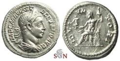 Ancient Coins - Severus Alexander Denarius - IOVI VLTORI - RIC 144