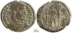 Ancient Coins - Vetranio Follis - CONCORDIA MILITVM - Siscia - RIC 287 - ex Grohs-Fligely collection 1875-1962