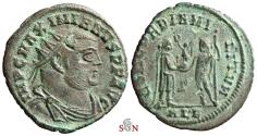 Ancient Coins - Maximianus Herculius radiate fraction - CONCORDIA MILITVM - ex Grohs-Fligely collection 1875-1962