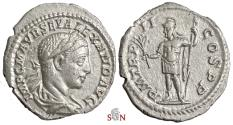 Ancient Coins - Severus Alexander Denarius - Mars standing left - RIC 23