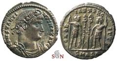 Ancient Coins - Constantinus I. the Great Follis - GLORIA EXERCITVS - Alexandria mint - RIC 58