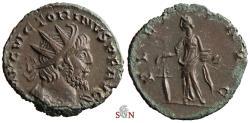 Ancient Coins - Victorinus Antoninianus - PIETAS AVG - Elmer 741 - excellent portrait