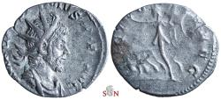 Ancient Coins - Postumus Antoninianus - VICTORIA AVG - Elmer 125 - wonderful early portrait