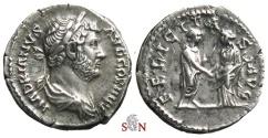 Ancient Coins - Hadrianus Denarius - FELICITAS AVG - RIC 237