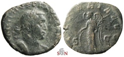 Ancient Coins - Gallienus Sestertius - VICTORIA AVGG - very rare with obv. legend PF AVG GERM - Goebl 114 n Ancient Coins - Gallienus Sestertius - VICTORIA AVGG - very rare with obv. legend PF AVG