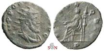 Ancient Coins - Pamphill Hoard (UK) - Postumus Antoninianus - struck under Aureolus - FIDES EQVIT / P - AGK 18c