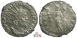 Ancient Coins - Victorinus Antoninianus - Fides standing left - Elmer 654