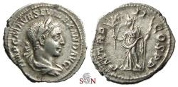 Ancient Coins - Severus Alexander Denarius - Pax standing left - RIC 27