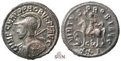 Ancient Coins - Probus Antoninianus - VIRTVS PROBI AVG - RIC 913 - shield decorated with horseman