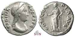Ancient Coins - Sabina Denarius - CONCORDIA AVG - RIC 390