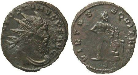 Ancient Coins - Postumus Antoninianus - Hercules standing right - Elmer 619