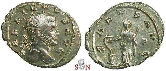 Ancient Coins - Gallienus Antoninianus - SALVS AVG / P - Siscia mint - MIR 1497 b