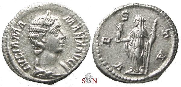 Ancient Coins - Julia Mamaea Denarius - VESTA - RIC 360