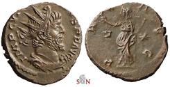 Ancient Coins - Victorinus Antoninianus - PAX AVG - Elmer 682 - excellent portrait
