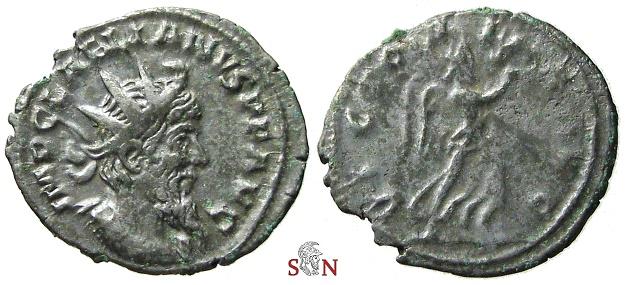 Ancient Coins - Pamphill Hoard (UK) - Laelianus Antoninianus - VICTORIA AVG - Elmer 625