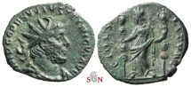 Ancient Coins - South Petherton Hoard (UK)- Tetricus I. Antoninianus - Very Rare ESVVIVS Obv. Legend - FIDES MILITVM