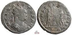 Ancient Coins - Tacitus Antoninianus - CONSERVAT MILIT - RIC temp 3915 - extremely rare - Ex P. Gysen coll.