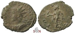 Ancient Coins - Tetricus II Antoninianus - SPES AVGG - very rare with left facing bust