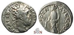 Ancient Coins - Clodius Albinus Denarius - Providentia stg. left - RIC 35