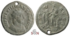 Ancient Coins - Maximianus Herculius Antoninianus - Hercules leaning on club, crowned by Victory - Rare