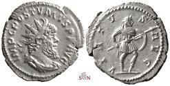 Ancient Coins - Postumus Antoninianus - VIRTVS AVG - Mars adv. right without captive at feet - Very rare