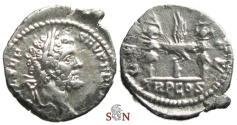 Ancient Coins - Septimius Severus Denarius - LEG IIII FL - RIC 8