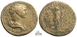 Ancient Coins - Trajanus Dupondius - Felicitas stg. left - RIC 674