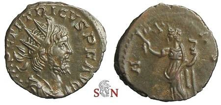 Ancient Coins - Tetricus I Antoninianus - PAX AVG - Elmer 771