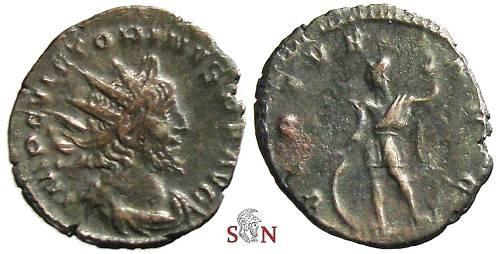 Ancient Coins - Victorinus Antoninianus - VIRTVS AVG - Elmer 699 - rare with Virtus standing left