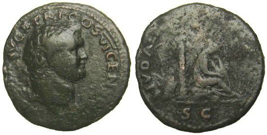 Ancient Coins - Titus As - IVDAEA CAPTA - RIC 784