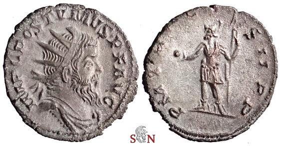 Ancient Coins - Postumus Antoninianus - local imitation - P M TR P COS II P P