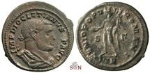 Ancient Coins - Diocletianus Follis - GENIO POPVLI ROMANI - Trier mint - RIC 517 var. scarce