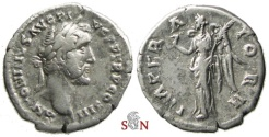 Ancient Coins - Antoninus Pius Denarius - IMPERATOR II - RIC 111 c