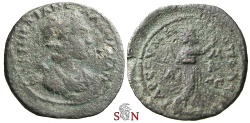 Ancient Coins - Cilicia, Tarsus - Salonina AE 28 mm - Helios advancing right - SNG Levante 1200