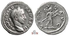 Ancient Coins - Severus Alexander Denarius - VIRTVS AVG - RIC 225