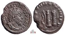 Ancient Coins - Postumus Antoninianus - Bow, Club, Roman Quiver - Extremely rare