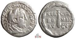 Ancient Coins - Commodus Denarius - HERCVL ROMAN AVG V - RIC 251