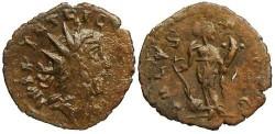 Ancient Coins - Tetricus I local imitation - SALVS AVGG - barabrous radiate