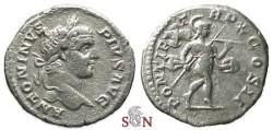 Ancient Coins - Caracalla Denarius - Mars advancing right - RIC 88
