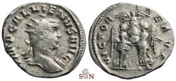 Ancient Coins - Gallienus Antoninianus - VICTORIAE AVG - 3 Victories - Extremely Rare - Göbl 393A f