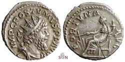 Ancient Coins - Postumus Antoninianus - Fortuna seated left - Very Rare - Elmer 384