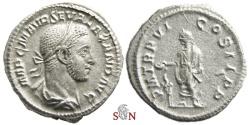 Ancient Coins - Severus Alexander Denarius - Emperor sacrificing over altar - RIC 70