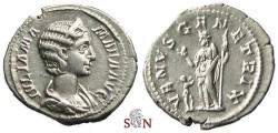 Ancient Coins - Julia Mamaea Denarius - VENVS GENETRIX - RIC 355