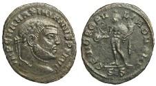 Ancient Coins - Maximianus Herculius AE Quarter Follis - Genius standing left - RIC 146