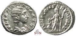 Ancient Coins - Julia Mamae Denarius - IVNO CONSERVATRIX - RIC 343