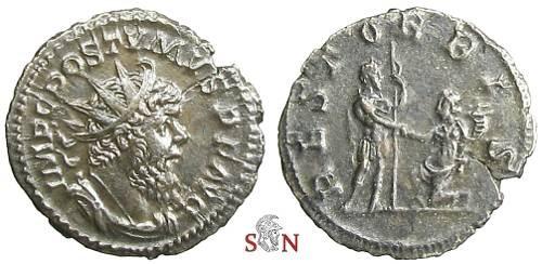 Ancient Coins - Postumus Antoninianus - REST ORBIS - Elmer 592