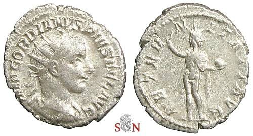 Ancient Coins - Gordianus III Antoninianus - AETERNITATI AVG - RIC 83