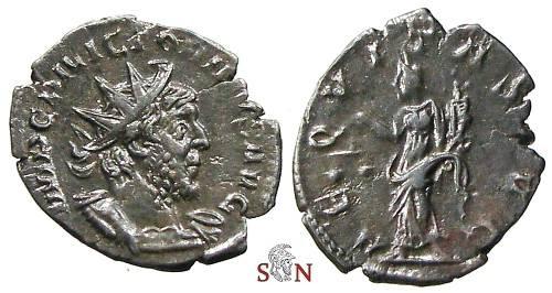 Ancient Coins - Victorinus Antoninianus - AEQVITAS AVG - Elmer 702