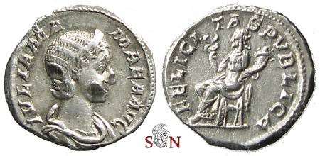 Ancient Coins - Julia Mamaea Denarius - FELICITAS PVBLICA - RIC 338