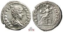 Ancient Coins - Geta Denarius - SECVRIT IMPERII - RIC 20 b